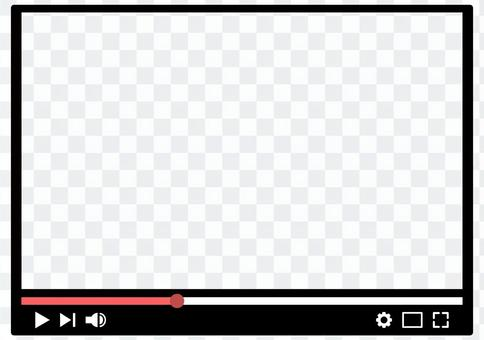 視頻播放畫面框透明