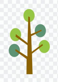 Modern tree 2 (green)