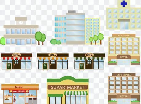 Building set illustration
