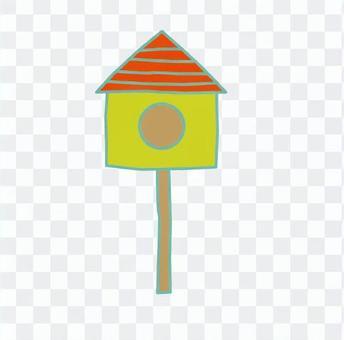 Triangular roof aviary