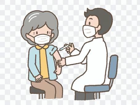 疫苗接種(老年婦女)