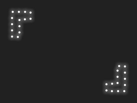 """""""燃燒支架""""照明框:白色"""