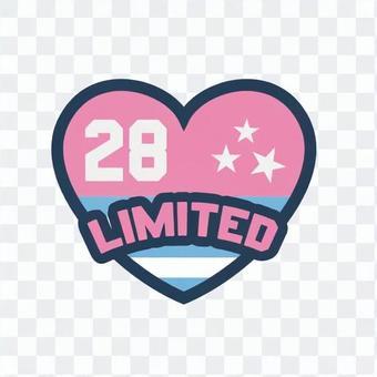 補丁-28 / LIMITED(粉紅色)