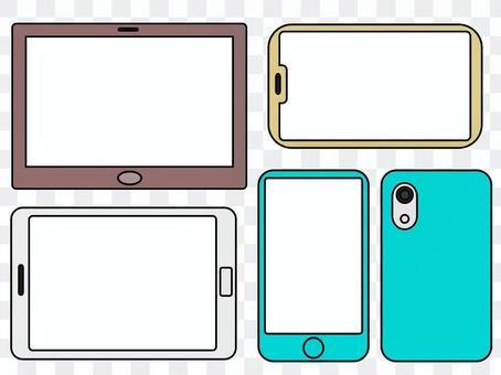 智能手機和平板電腦(白屏)