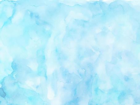 水彩紋理淡藍色