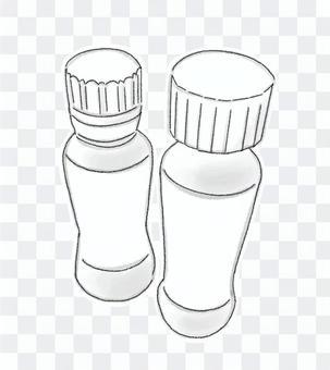 敷料1(黑色和白色)