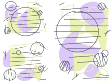 圓形或方形幾何圖案留言卡