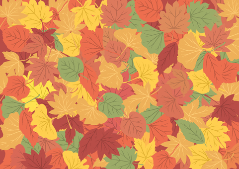 Autumn beautiful fallen leaves background
