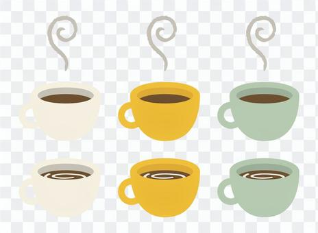 A cup of coffee cups