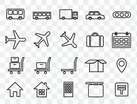 為車輛,運輸,交通等設置的圖標。
