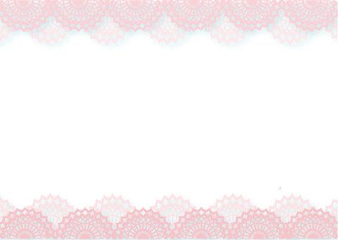 花边粉红色的白色背景