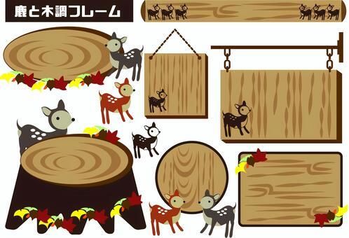 Wood frame, deer