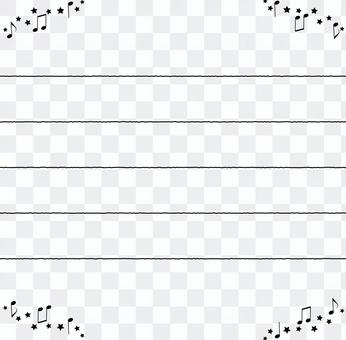 Music Notepad-Note, Star, Stave