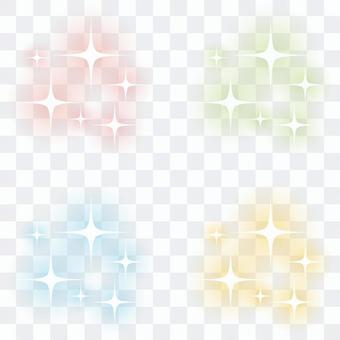 An illustration of glitter
