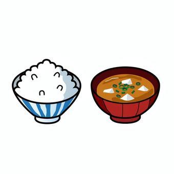米飯和味mis湯