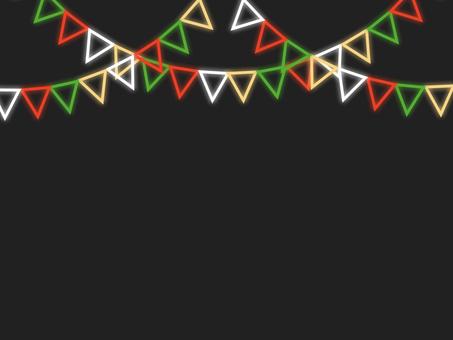 霓虹風格_聖誕花環框C