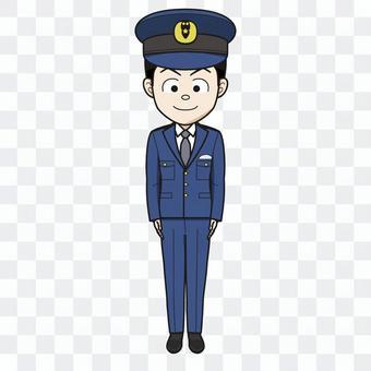 警察官(男)01_イラスト