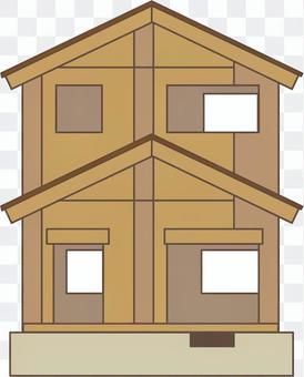 住宅 建築中 構造 2×4