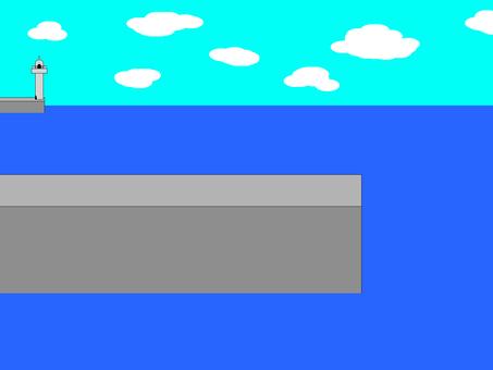 Sea and embankment