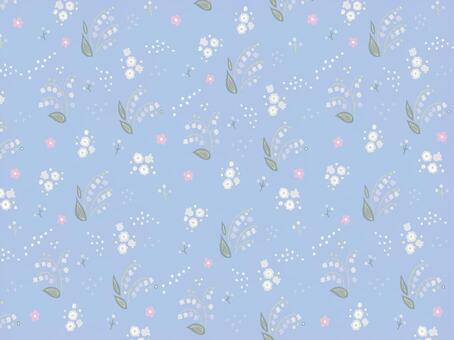Lily of the valley pattern wallpaper