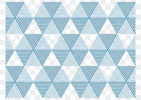 Geometric pattern triangle hexagon blue