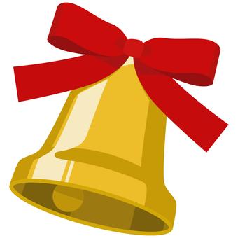 Bell 聖誕鈴鐺帶絲帶舔