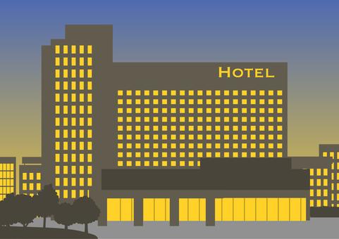 Large hotel (night)