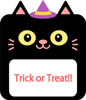 [Halloween] Cat frame