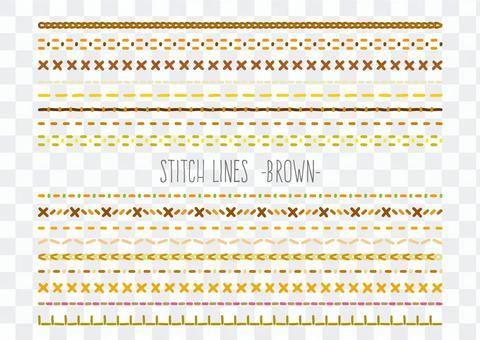 刺繡/線跡安排棕色