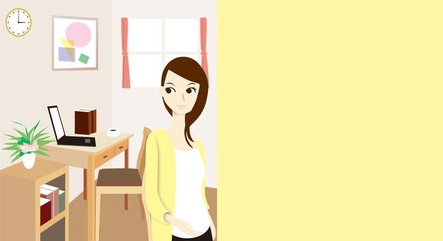 部屋女性201701-E黄色