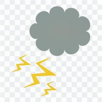 雨雲和閃電