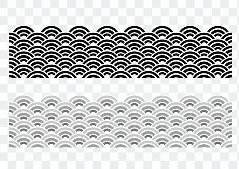 波浪圖案_黑色