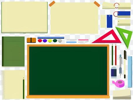 Stationery set used for studying for exams PNG No background