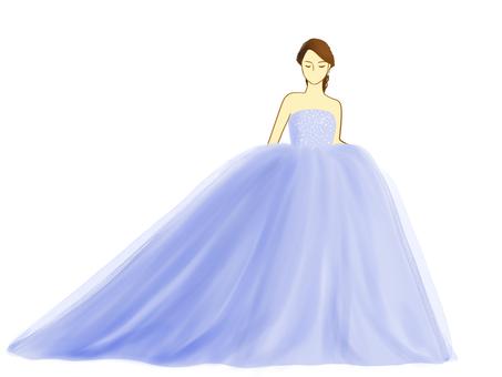 Bride dress lavender