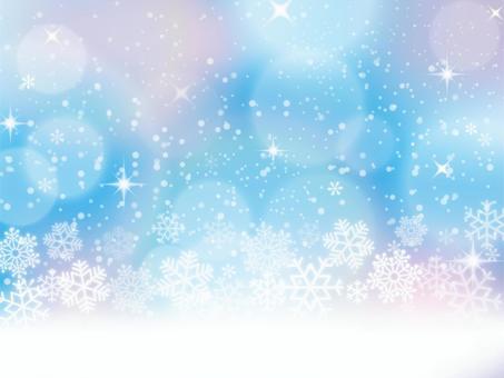 Snowflakes blue background 02