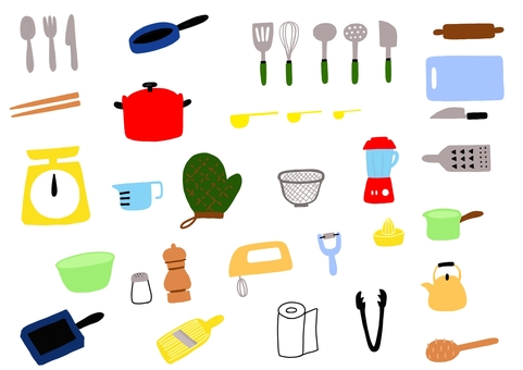 Kitchen tool color ver.