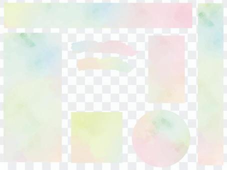 水彩風格圖案色板ver02