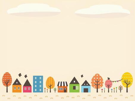 Autumn town illustration (3)