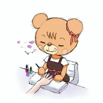 熊美甲師(手繪風格)