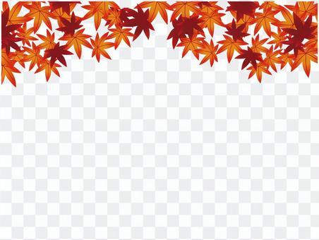 日本圖案材料秋天的落葉