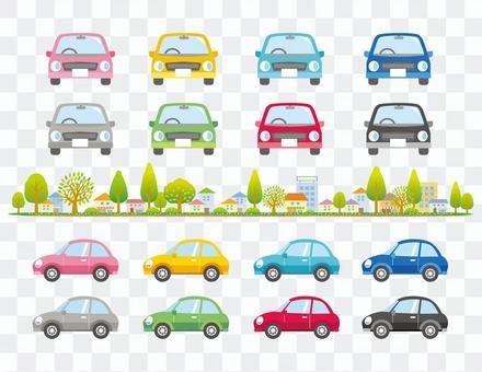 车辆变化和城市景观