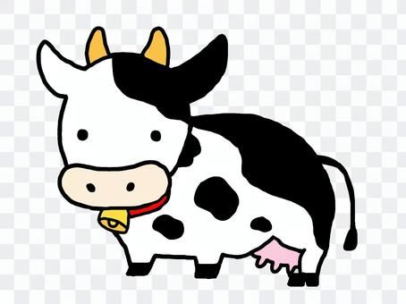 動物材料_簡單牛3(奶牛)