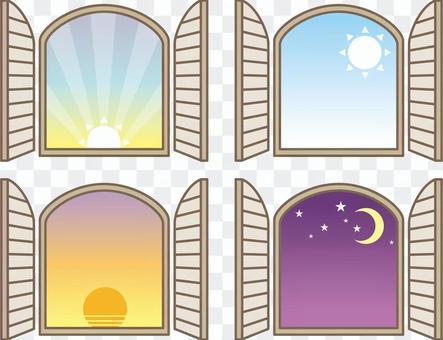 Window frame one day