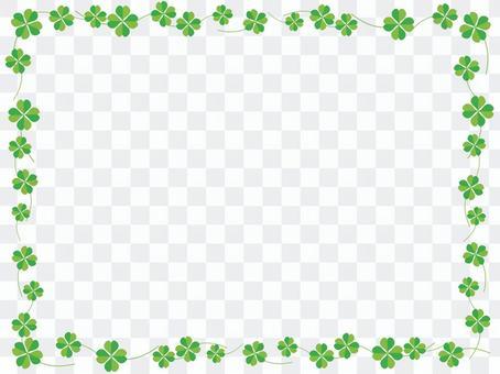 四葉三葉草裝飾框架