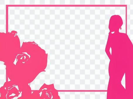 莎莉女人和玫瑰框架
