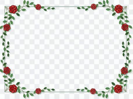 深紅玫瑰框架