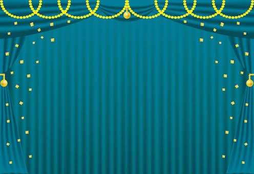 海豚·海藍色和金色(帶背景)