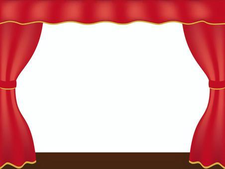 窗簾框紅色