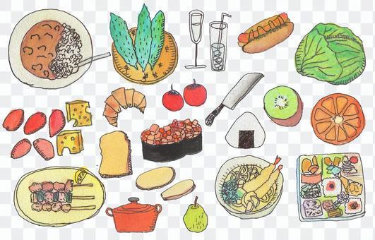 食物的插圖