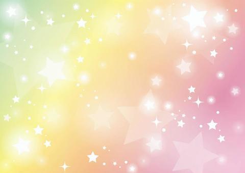 彩虹色星空背景04